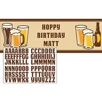 Hoppy Birthday Banner