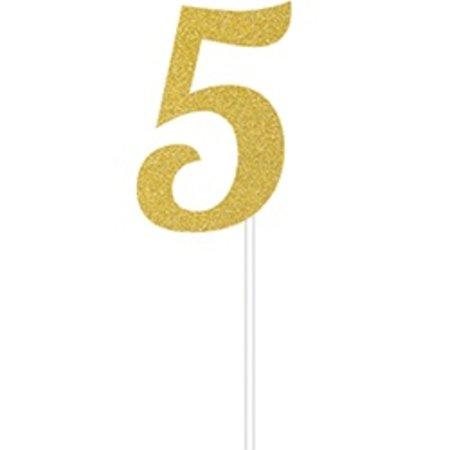 5 Gold Cake Topper
