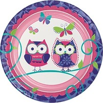 "7"" Plates Owl Pal Birthday"