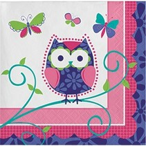 Beverage Napkins Owl Pal Birthday