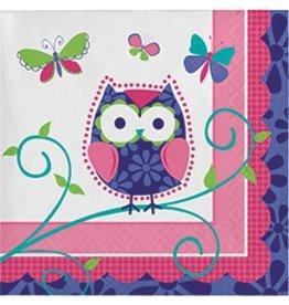 Beverage Napkins Owl Pal Birthday