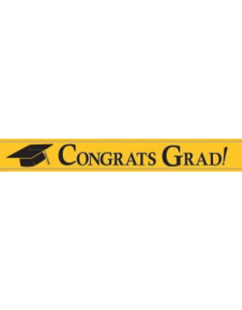 congratulations grad banner yellow tribout s party bingo carnival