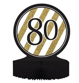 Centerpiece Black & Gold 80
