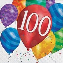Luncheon Napkins 100 Balloon Blast