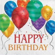 Luncheon Napkins Happy Birthday Balloon Blast