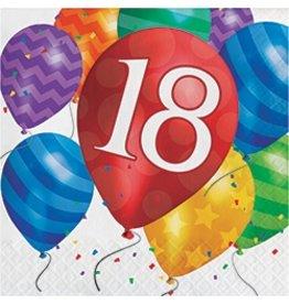 Luncheon Napkins 18 Balloon Blast