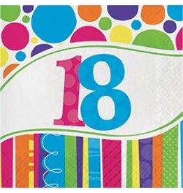 Luncheon Napkins Bright & Bold18  Bday