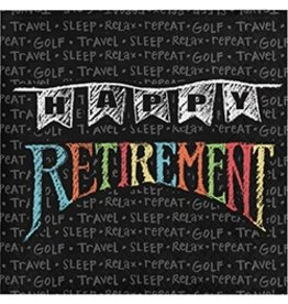 Beverage Napkins Retirement Chalk