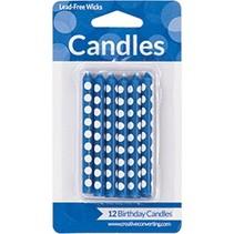 Candles Blue Dot