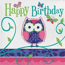 Luncheon Napkins Owl Pal Bday