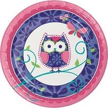 "9"" Plates Owl Pal"