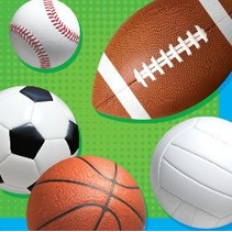 Beverage Napkins Celebrate Sports