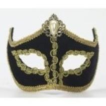 Black Venetian Half Mask