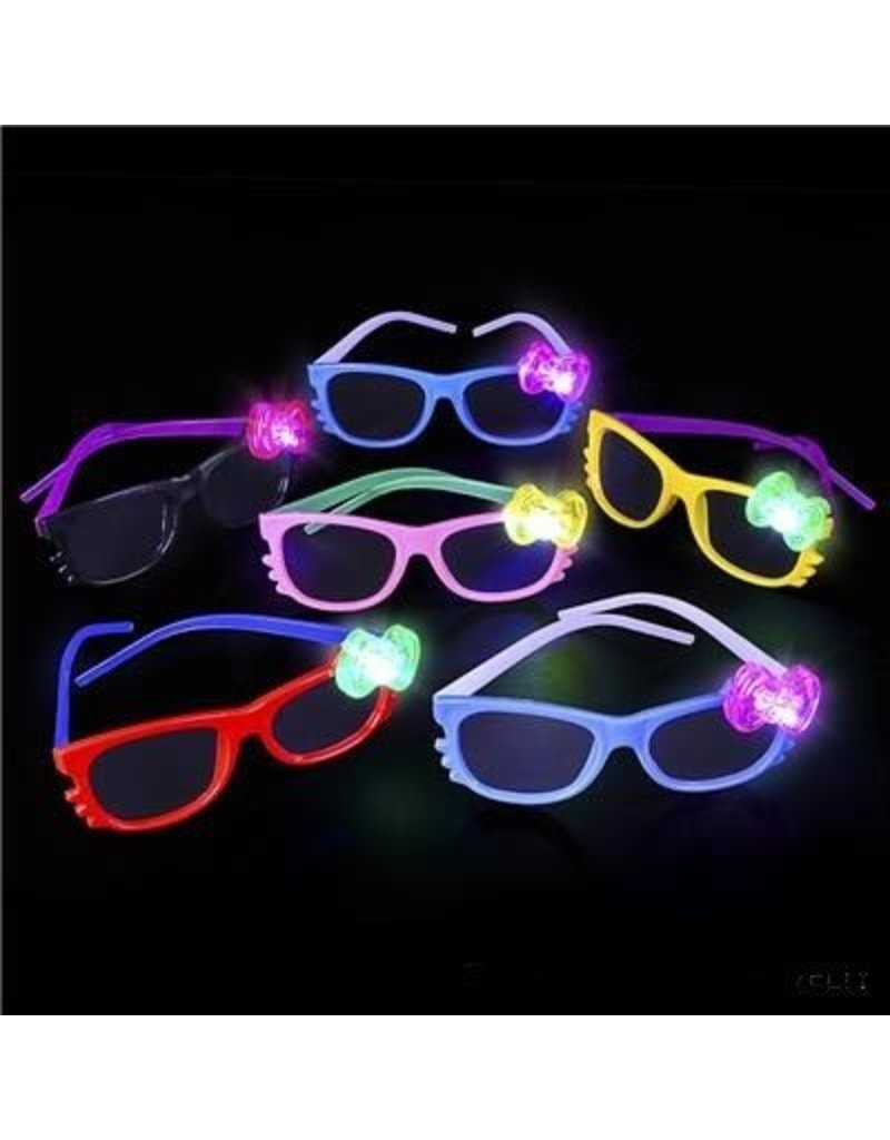 be0eb40b90 Nerd Glasses with Flashing Bow - Tribout s Party-Bingo-Carnival