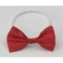 Bow Tie Elastic Red