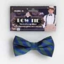 Striped Bow Tie Green & Blue