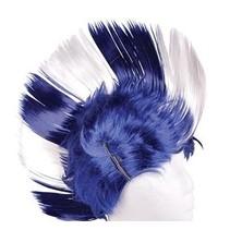 Mohawk Wig Blue & White