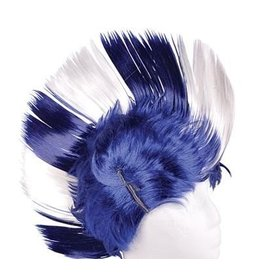 Mohawk Wig Blue & White