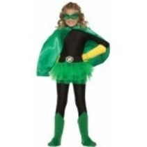 Super Hero Cape Child Size Green