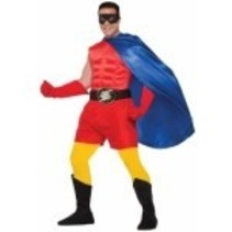 Super Hero Boxer Shorts Adult Size Red