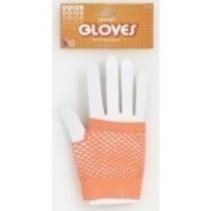 Fishnet Gloves Orange