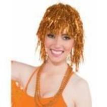 Tinsel Wig Orange