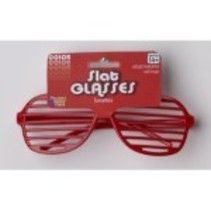 Slat Glasses Red