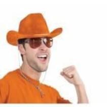 Deluxe Cowboy Hat Orange