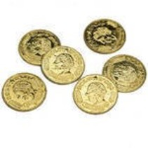 Gold Coins Plastic 144 piece package