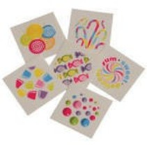 Candy Tattoos 144 piece package