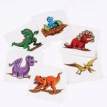 Dino Tattoos 144 piece package
