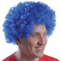Blue Team Spirit Fro Wig