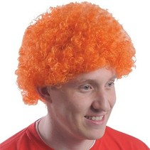 Orange Team Spirit Fro Wig