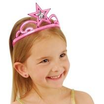 Pink Glitter Star Tiara