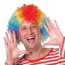 Rainbow Clown Wig