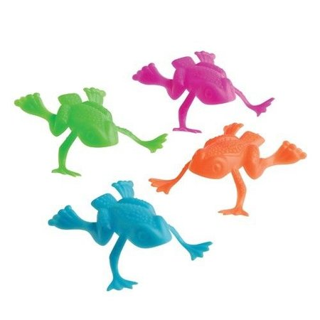 36 Jumping Plastic Frogs
