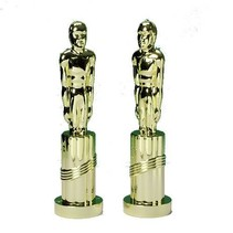 Gold Plate Movie Statue