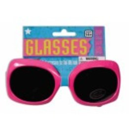 Pink 80's Glasses