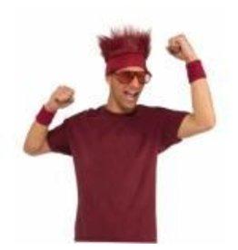 Fur Headband Maroon