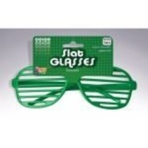 Slotted Neon Glasses Green