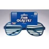 Slotted Neon Glasses Blue
