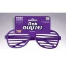 Slotted Neon Glasses Purple