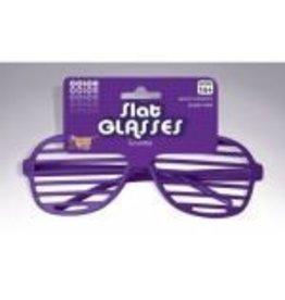 Slotted Neon Glasses Purple