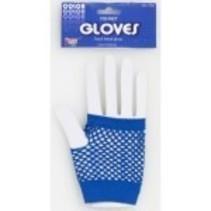 Fishnet Gloves Blue