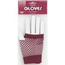 Fishnet Gloves Maroon