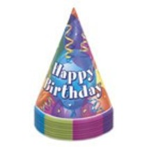 8 Ct Happy Birthday Hats