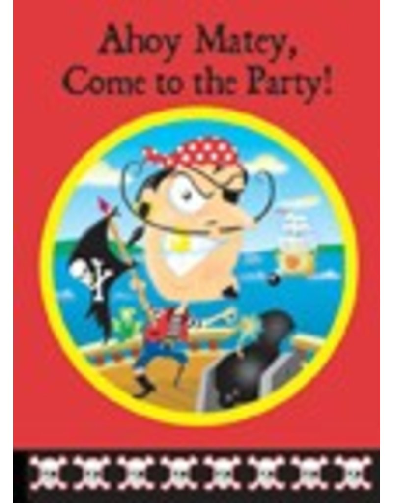 8 Ct Pirate Invitations