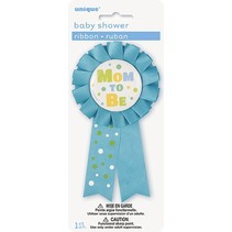Mom To Be Ribbon Blue