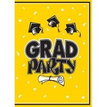 Yellow Graduation Invitations