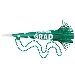 Green Graduation Horn Bead Necklace
